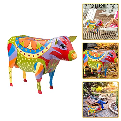 Pig Patio Side Table, Bistro Tables Sculptures Crafts for Garden Courtyard Landscape,Colorful Folk Art Animal Ornaments Simulation Resin Statues Pig Side Table (Pig)