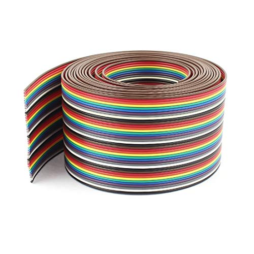 40 Pin Ribbon Cable - TOOGOO(R) 10ft 40 Way 40-Pin Rainbow Color IDC Flat Ribbon Cable 1.27mm Pitch