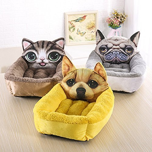 Whyyudan Manta de Cama de Gato de Perrito del Perro casero de la Impresión del Modelo de Super Soft (Amarillo S 40 * 50cm): Amazon.es: Productos para ...