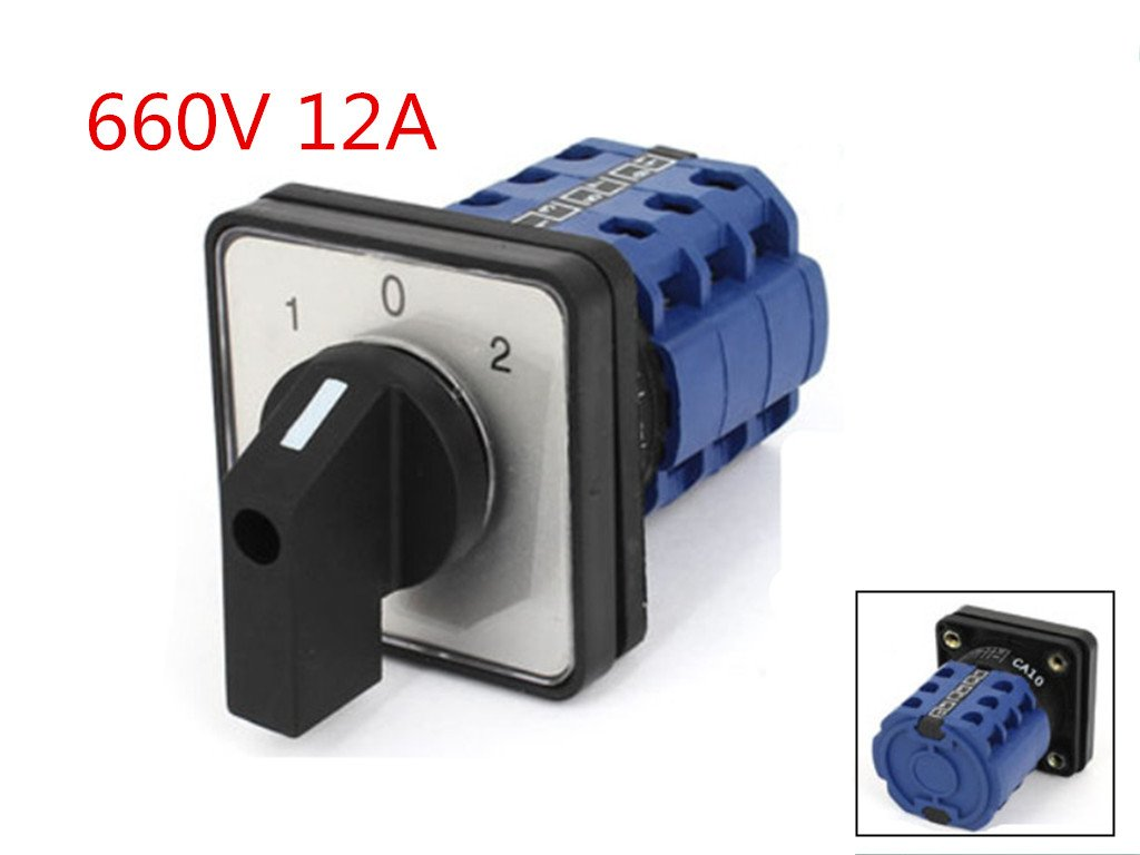 DCS 660V 12A 3 Position Rotary Cam Combination Universal Changeover Switch CA10 by DCS (Image #2)