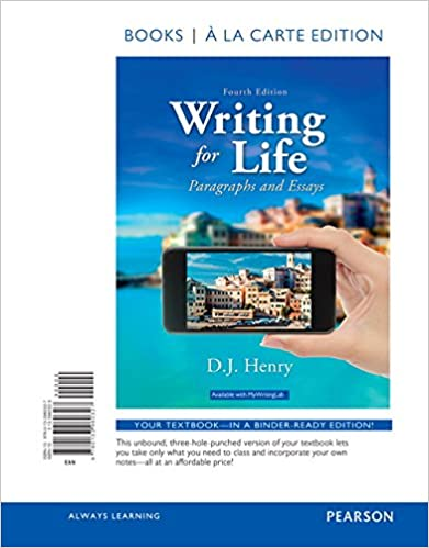 com writing for life paragraphs and essays books a la  writing for life paragraphs and essays books a la carte edition 4th edition 4th edition