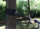 Ohuhu Hammock Tree Hanging Straps with 2 Heavy-duty S Hooks and Carabiners, Black, 2-piece