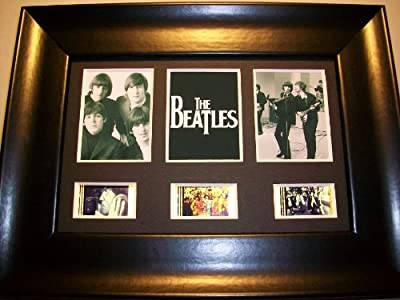 BEATLES Framed Trio 3 Film Cell Display Collectible Movie Memorabilia COMPLIM...