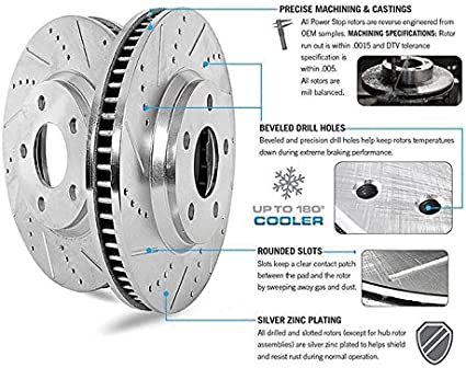 Z36 Truck /& Tow Front /& Rear Kit Rotors and Carbon-Fiber Ceramic Brake Pads Power Stop K15154DK-36
