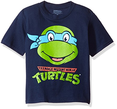 Nickelodeon Little Boys' Toddler Teenage Mutant Ninja Turtles Group T-Shirt, Navy, 3T ()