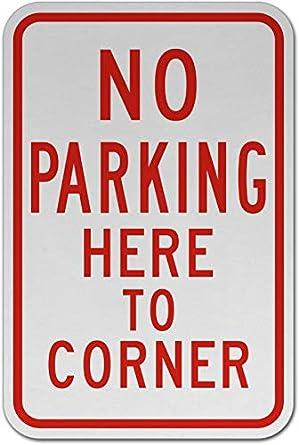 Amazon.com: Señal de tráfico – sin aparcamiento aquí a la ...