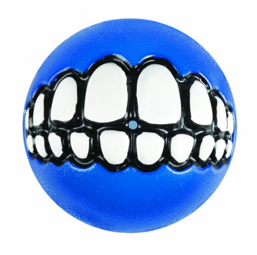 - Rogz Fun Dog Treat Ball in various sizes and colors, Medium, Blue
