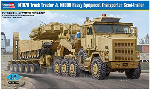 Hobby Boss 85502 M1070 Truck Tractor & M1000 Heavy Equipment Transporter Semi-Trailer 1/35 Scale Plastic Model Kit
