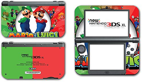 Mario and Luigi Bros Super Hero Golf Kart Smash Video Game Vinyl Decal Skin Sticker Cover for the New Nintendo 3DS XL LL 2015 System Console (Xbox Game Super Smash Brothers)