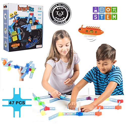 Brackitz Bugz STEM Discovery Building Toy for Kids 3, 4, 5, 6+ Years Old Fun Creative Learning Toys for Boys & Girls Best Children Educational Construction Kits 47 Piece Set