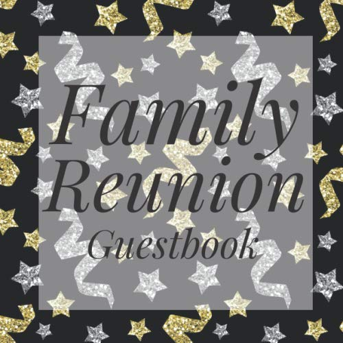 Family Reunion Guestbook: Gold Silver Confetti Guest Event