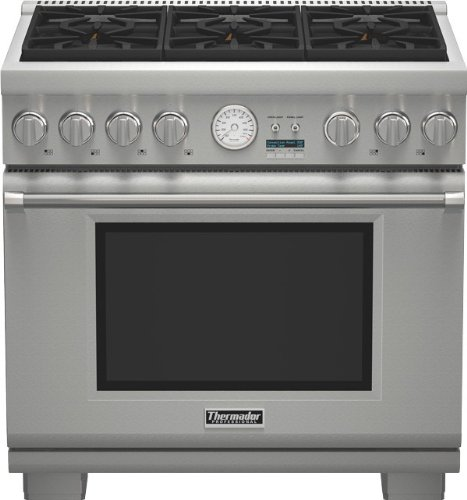 Thermador Pro Grand PRG366JG 36 Pro-Style Gas Range 6 Sealed Burners,...