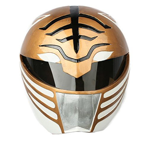 Rangers Helmet White Power Deluxe Full Head Mask Cosplay Costume Prop (Power Rangers Helmet)