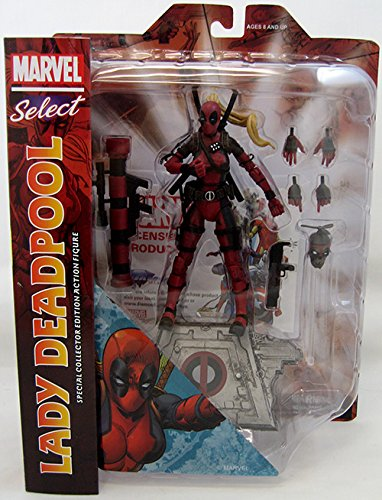 (Diamond Select Toys Marvel Select Lady Deadpool Action)