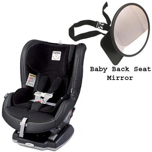 Peg Perego Primo Viaggio Convertible Car Seat w Back Seat Mirror - Licorice