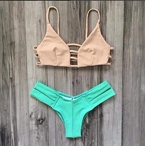 Bikinis L Beach Taille coloré Couleur Mode Zhrui Élastique Halter Xl Solide Haute W7wCYCqHP
