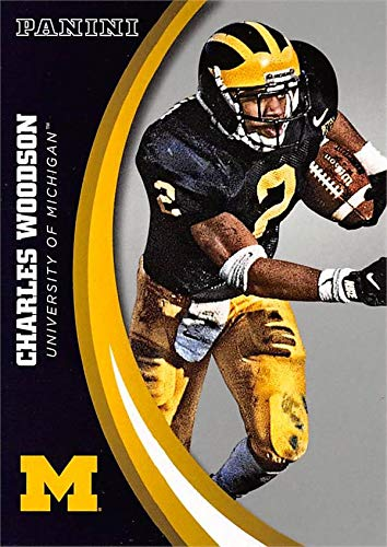 (Charles Woodson football card (Michigan Wolverines) 2015 Panini Team Collection #46 Silver Edition)
