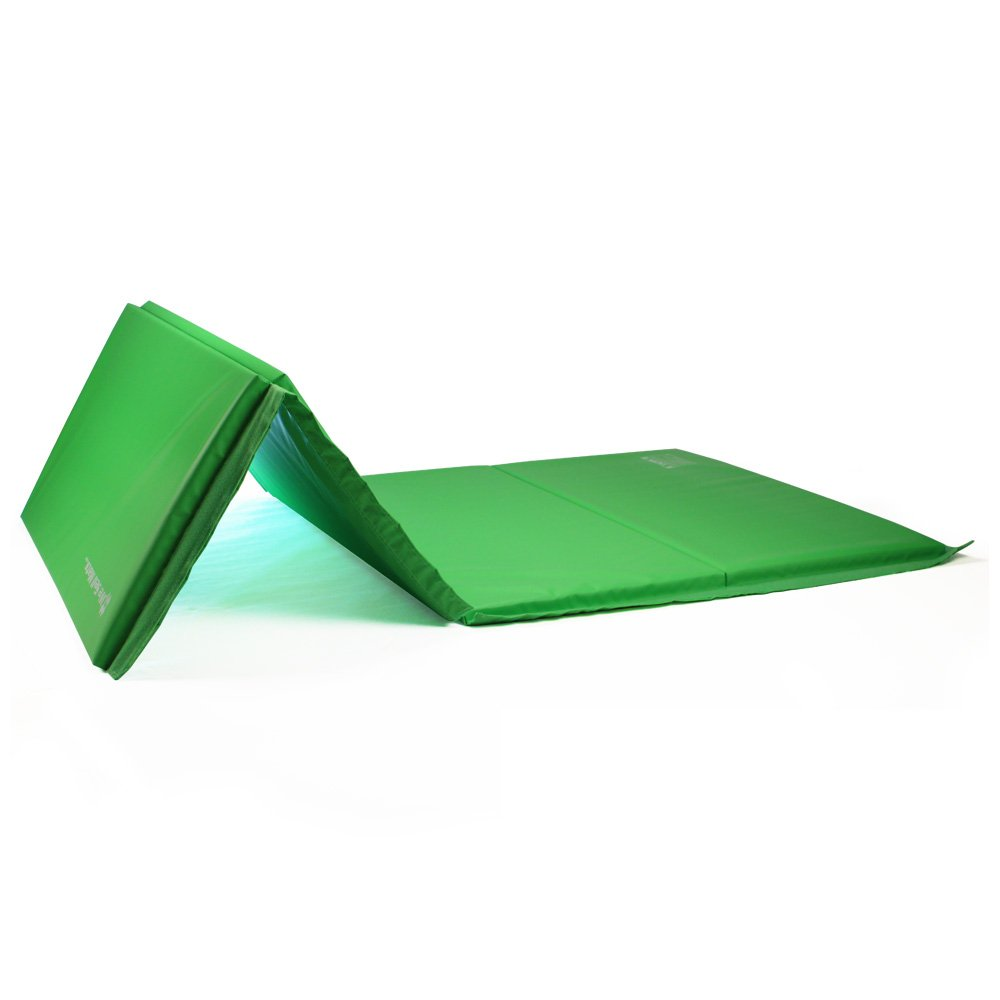 We Sell Mats GM4x8LMGv4-50M Lime Green 2'' Thick Gymnastics Tumbling Exercise Folding Martial Arts Mats with Hook & Loop Fasteners On 4 Sides Crosslink PE Foam Core by We Sell Mats (Image #5)