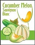 Cucumber Melon Sauvignon Blanc Wine Labels 30/pack