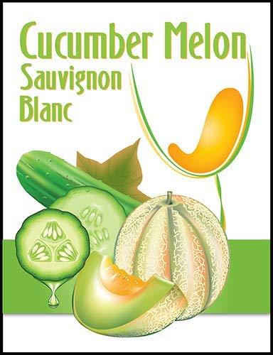 Cucumber Melon Sauvignon Blanc Wine Labels 30/pack ()