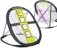 SAPLIZE Golf Chipping Net, Strongly Stable Pop Up X-Shaped Golfing Target Net, Portable Golf Training Net for