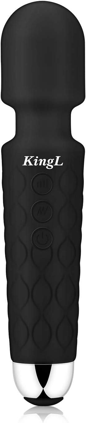 KingL Super Powerful Personal Wand Massager Handheld Cordless Waterproof Magic Massager for Body … …
