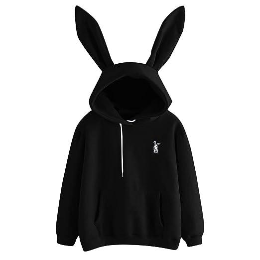 VIASA  Women Hoodie Womens Bunny Hoodie Sweatshirt Pullover Tops Blouse  Girls Hooded Sweatshirt Pullover Hoodie Pull e9b369d068