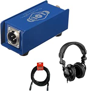 Cloud Microphones Cloudlifter CL-1 Mic Activator with HPC-A30 Studio Headphones & XLR Cable Bundle