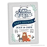 Woodland Animals Baby Shower Invitations (Set of 10) Envelopes Included Personalized