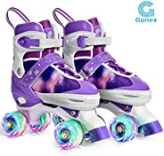 Gonex Roller Skates for Girls Women Boys Kids with Light up Wheels and Adjustable Sizes for Indoor Outdoor