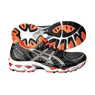 ASICS Men's GEL-Nimbus 12 Running Shoe,Black/Lightning/Orange,13 M US