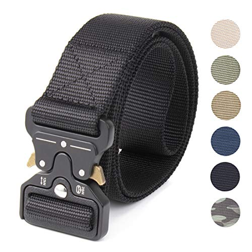 NcDe Tactical Military Molle Rigger Waist Belt with Heavy-Duty Quick-Release Buckle, Security Military Duty Utility Belt, Law Enforcement Belt, Camping, Hunting, Sports and ()