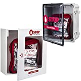 CURAPLEX Stop The Bleed Wall Cabinet. White Metal, Custom with CURAPLEX Logo