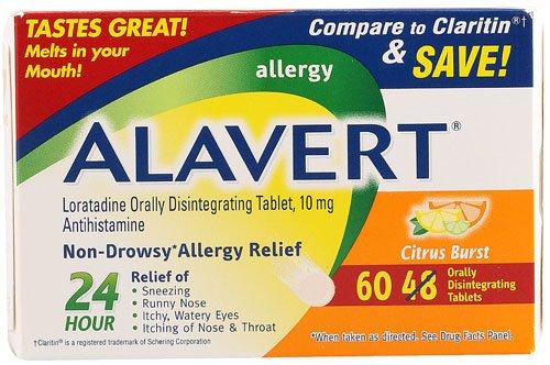 Alavert Allergy Relief Citrus Burst -- 60 Tablets - 3PC