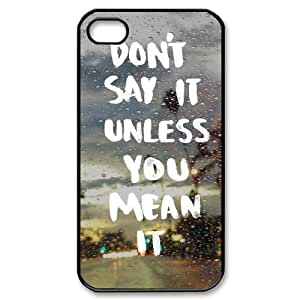 Quotes New Fashion DIY Phone Case for Iphone 4,4S,customized cover case ygtg529515