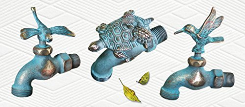 Decorative Outdoor Faucet (Decorative Brass Hummingbird, Turtle, Dragonfly Garden Outdoor Faucet (Set of 3 Pcs))