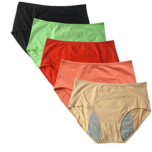 4a86b98ac8 Women s Menstrual Period Leak Proof Control Brief Multi Pack Size 8-16. by YOYI  FASHION