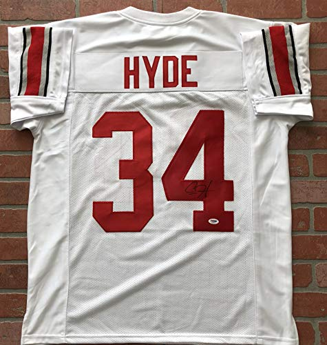 Carlos Hyde autographed signed jersey NCAA Ohio State Buckeyes PSA COA
