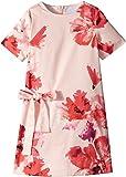 Lanvin Kids Girl's Short Sleeve Floral Print A-Line Dress with Bow On Front (Little Kids/Big Kids) Pink/Multi 6