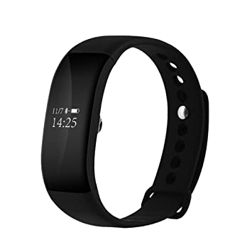 masterein V66 inteligente reloj de pulsera Bluetooth 4.0 SmartBand Sensor de ritmo cardíaco monitor de sueño pulsera inteligente IP68 resistente al agua: ...