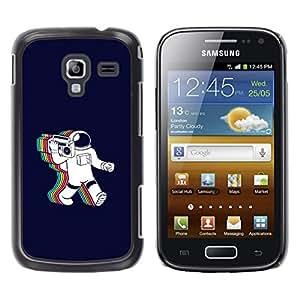 LECELL--Funda protectora / Cubierta / Piel For Samsung Galaxy Ace 2 -- Psychedelic Astronauta Radio Música --