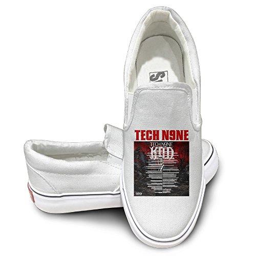 Amone Tech N9n Athletic Unisex Flat Canvas Shoes Sneaker White 42