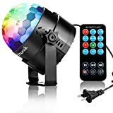 Image of Zitronik Disco Ball Strobe Light Party Lights Disco Lights Karaoke Machine 3W Dj Light LED Portable 7Colors Sound Activated Stage Lights for Festival Bar Club Party Outdoor and More (with Remote)