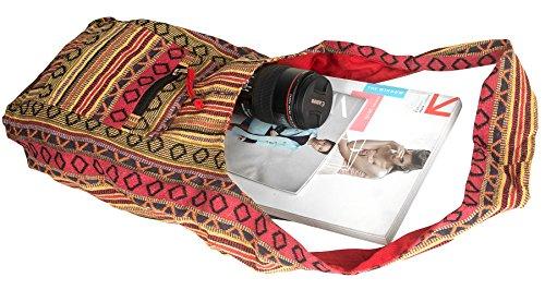 Tribe Azure Red Hobo Messenger Shoulder Bag Large Roomy School Sling Travel Camping Beach Cross body Photo #3