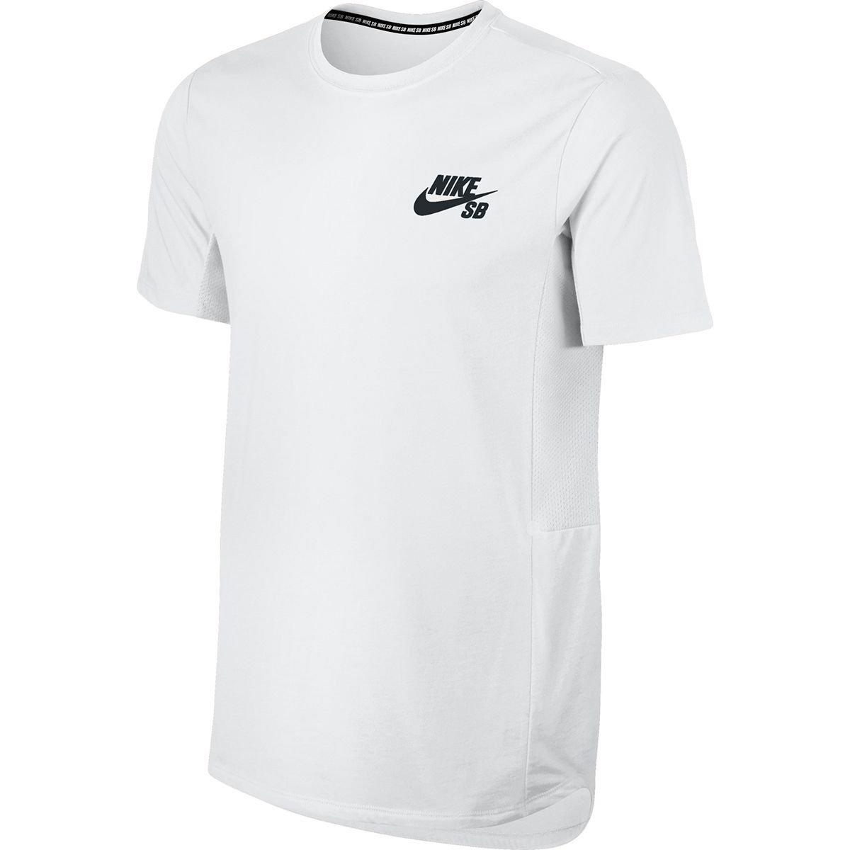 a5894a426 Amazon.com: Nike Mens SB Dry Skyline T-Shirt White/Black (Small): Sports &  Outdoors
