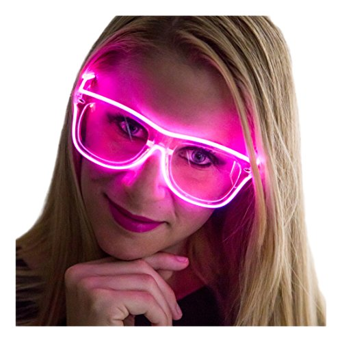 Neon Nightlife Pink Frame/Clear Lens Light Up -