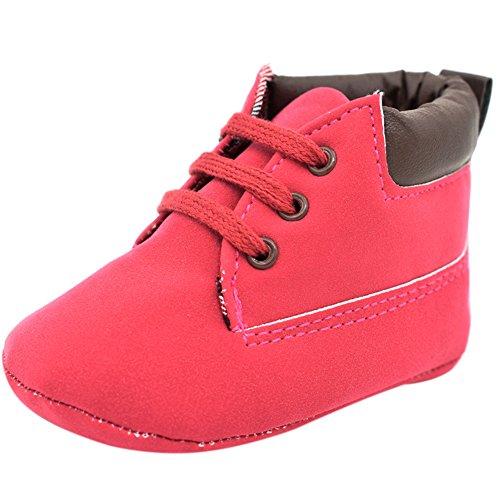 Etrack-Online Baby Sneakers - Zapatos primeros pasos de Otra Piel para niño Red
