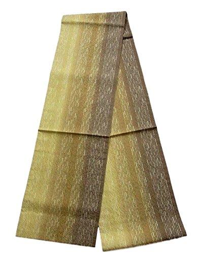 従者外出商品全通 袋帯 リサイクル 縞模様 グラデーション 正絹
