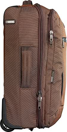 Design Go Luggage Lightweight Carry-On, Cappuccino Brown, Small