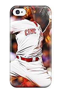 DanRobertse Fashion Protective Cincinnati Reds Case Cover For Iphone 4/4s